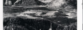 Columbia Mountain and Teakettle Mountain viewed from Desert Mountain in the Flathead National Forest, Montana. An intense wildfire had burned the area six years earlier. Date: 08/24/1935 Credit: E. Bloom (USDI) Archived at the Mansfield Library at the University of Montana