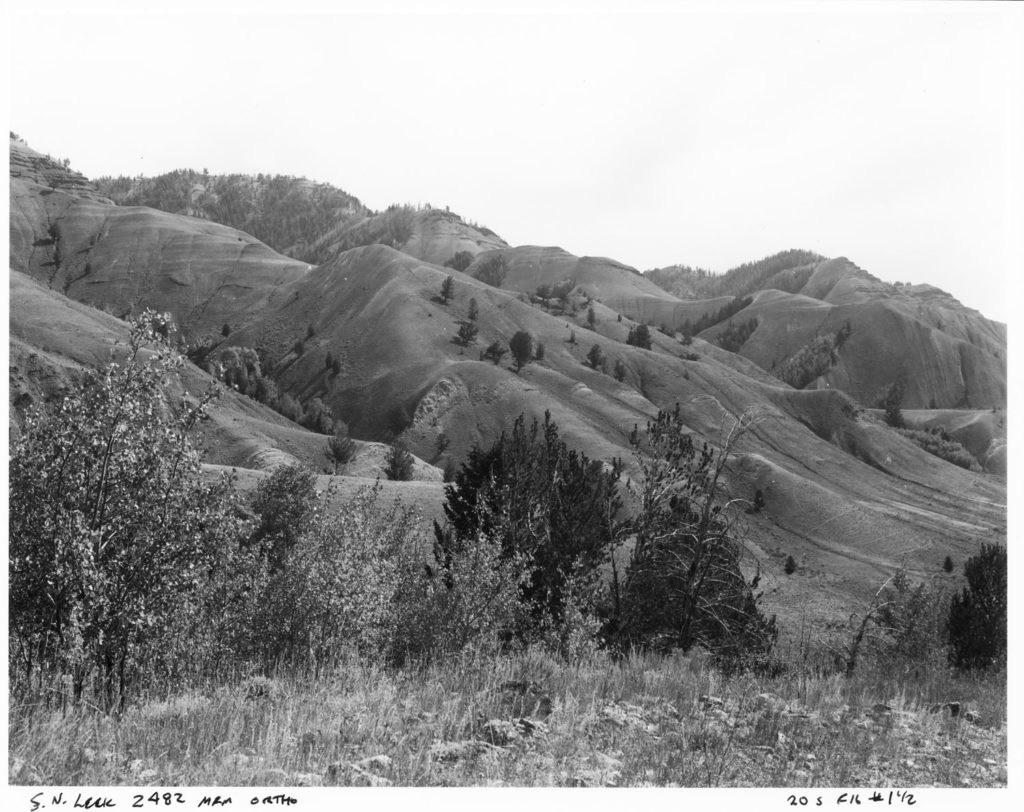Red Hills anticline from Russold Hill, 2015. Date: 09/09/2015 Credit: Mike Merigliano, Bridger-Teton National Forest