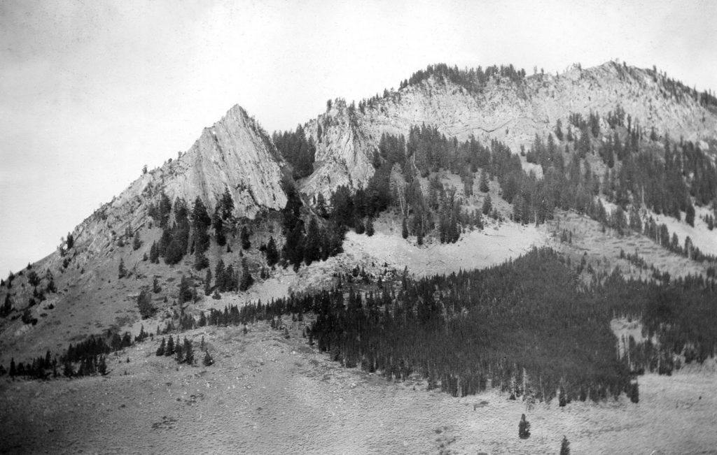 Sharp folds in Nugget sandstone near the mouth of Granite Creek, 1906 Date: 07/1906 Credit: Alfred Shultz (USGS), U.S. Geological Survey