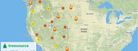 Treesource interactive wildfire map