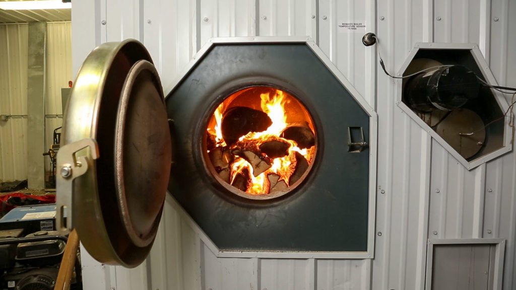 Garn cord wood boiler at a school on Prince of Wales